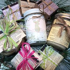 All-natural goodies packed with herbs and infused with essential oils! http://www.Etsy.com/shop/findyourwaynaturals