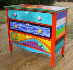 .I love brightly colored furniture