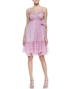 Queenie Sleeveless Printed Chiffon Dress by Diane von Furstenberg at Neiman Marcus.