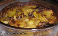 Gombás, serpenyős krumpli recept fotóval