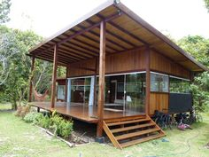 Tyni House, Tiny House Cabin, Tiny House Living, Tiny House Plans, Container House Design, Small House Design, Building A Cabin, Hawaii Homes, Modern Tiny House