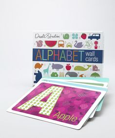 Loving this DwellStudio Alphabet Wall Card Set on #zulily! #zulilyfinds