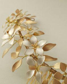Wire Jewelry Earrings, Ribbon Jewelry, Head Jewelry, Nail Polish Flowers, Nail Polish Jewelry, Wire Flowers, Flowers In Hair, Wire Crafts, Jewelry Crafts
