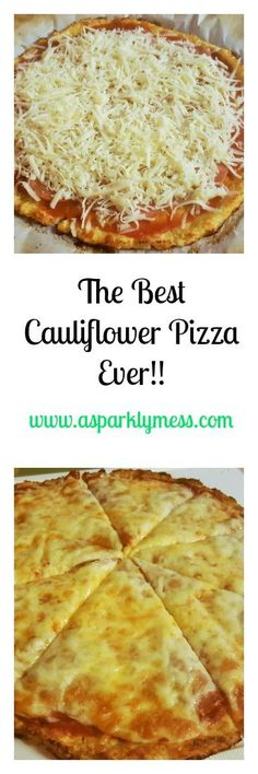 The Best Easiest Cauliflower Pizza-This Cauliflower Pizza is a must in our home. This recipe is the best easiest Cauliflower pizza recipe ever! it makes the menu at least twice times a month. Scd Recipes, Pizza Recipes, Diabetic Recipes, Low Carb Recipes, Vegetarian Recipes, Cooking Recipes, Healthy Recipes, Zoodle Recipes, Recipies
