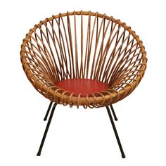 1stdibs - Rattan chair in style of Franco Albini explore items from 1,700  global dealers at 1stdibs.com