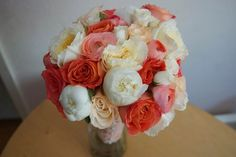 Bloom & Vine Coral and white bouquet