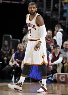 Kyrie Irving wearing a 'Cavs' Nike Kyrie 2 PE Irving Nba, Kyrie Irving, Kyrie 3, Nike Kyrie, Irving Cavaliers, Nba Quotes, The Championship, Just Run, Nba Players