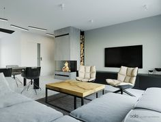 kolor, drewno, kominek, sofa