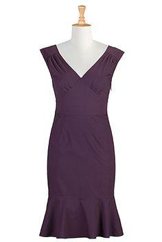 I <3 this Stretch poplin pin-up dress from eShakti