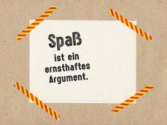 """Stempel """"Spaß ist ein ernsthaftes Argument"""" // Stamp """" Fun is a serious argument"""" by im-wohnzimmer via DaWanda.com"""