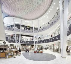 View full picture gallery of shopping center milaneo shopping mall interior, plaza comercial, commercial Glass Store, Retail Architecture, Futuristic Architecture, Commercial Architecture, Mall Design, Retail Design, Lobby Design, Shopping Center, Shoping Mall