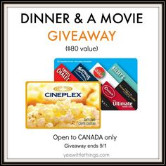 Dinner & A Movie Prize Pack GIVEAWAY Canadian Cheese, Stag And Doe, Dinner And A Movie, How To Make Cheese, Simple Pleasures, Bon Appetit, Giveaways, Packing, Breakfast