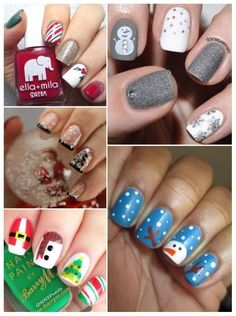 Christmas Nails, Health And Beauty, Acrylic Nails, Ideas, Kawaii Nails, Fingernail Designs, Xmas, Hairdos, Christmas Manicure