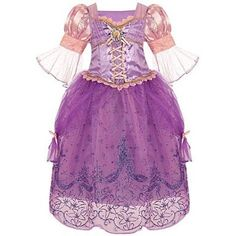 Disney Store Tangled Princess Rapunzel Halloween Costume Dress: Size Small 5/6, Your little dreamer will have the best day ever in this regal Princess Rapunzel costume dress, featuring intricate datails & sparkling accents!, #Toys, #Girls