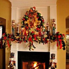 For a few years, vibrant seasonal colors, huge satin bows, gold beaded garland and nutcrackers galore graced our holiday fireplace.
