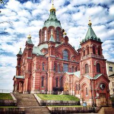 Uspenski Orthodox Cathedral Completed in 1868 in the Katajanokka district of Helsinki, the Uspenski Cathedral is the largest orthodox church in Western Europe.