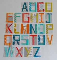I love the idea of an ABC baby quilt... and a 123 quilt, for mathematically-inclinded parents!