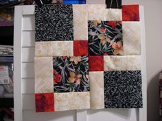 ~ Disappearing-9-patch-block.....looks good with just 3 colours...as shown at guild