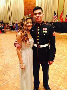 Amazing couple. Marine dine-in.