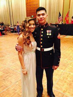 Amazing couple. Marine dine-in.