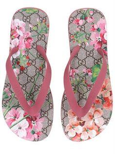 gucci - women - flats - bedlam floral printed flip flops