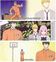 Lol Kuroko no Basket funny moments. Midorima is so cruel xD funny gif funny girls funny hilarious funny humor funny memes funny moments legends Anime Meme, Anime Manga, Anime Guys, Real Anime, Kuroko No Basket, Kurokos Basketball, Basketball Legends, Haikyuu, Kise Ryouta
