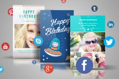 Birthday card cake candles day digital instant download phone recommending two greeting card makers for you to create and send free ecards on mobile birthday cards wedding invitation save the date etc m4hsunfo Choice Image