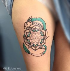 Haku mandala for Elysia's first tattoo :) / Inspired by the amazing movie Spirited Away from Hayao Miyazaki (Ghibli studios) #miletune