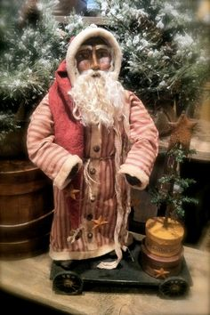 Handmade Primitive Santa by HeartFeltPrims on Etsy, $135.00