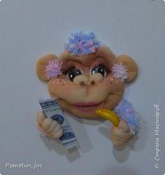 Мастер-класс Поделка изделие Новый год Шитьё МК crazy monkey Капрон Пряжа фото 16