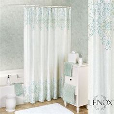 French Perle Groove Shower Curtain Gray 72 X