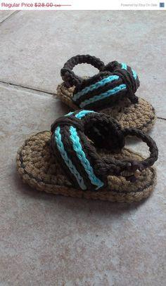 sandália de crochê  para bebês