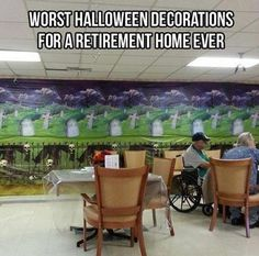 This is exactly why I hesitate to wear my Halloween scrubs to work. The graveyard and skeleton motif seems a little on the insensitive side.