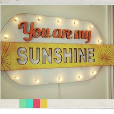 Big You are My Sunshine Wood Marquee . Home Love by JunkArtGypsyz