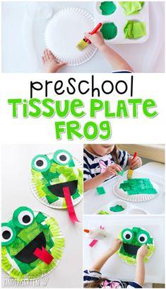 Tot School: Frogs {Plans and Printables} - Mrs. Frog Crafts Preschool, Reptiles Preschool, Pond Crafts, Frog Activities, Preschool Art Projects, Preschool Lessons, Crafts For Kids, Art Projects For Kindergarteners, Preschool Readiness