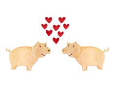 costelinha romântica #love #romance #watercolor #illustration