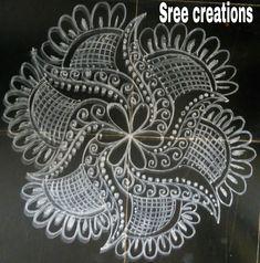 Rangoli Designs Diwali, Simple Rangoli, Lotus Rangoli, Beautiful Rangoli Designs, Islamic Art, Flower Decorations, Collections, Interiors, Traditional