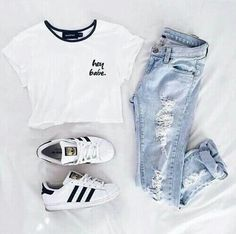 Image about fashion in Moda - outfits👚 by carmen🦊 Teenage Outfits, Cute Casual Outfits, Teen Fashion Outfits, Tomboy Fashion, Tween Fashion, Mode Outfits, Cute Summer Outfits, Outfits For Teens, Girl Outfits