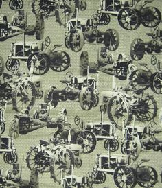 Antique tractor fabric LAST YARD
