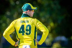 Given the form of just about all of Australia's batsmen in recent months, there were a few quiet whispers that Steve Smith was no certain starter at the World Cup. Cricket Time, Icc Cricket, Cricket Sport, Cricket Match, Cricket Wicket, Cricket Poster, Mitchell Starc, Glenn Maxwell, Profile Dp