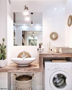 32 Inexpensive Tiny Laundry Room Design Ideas for a Fresh Look 3 32 Inexpensive Tiny Laundry Room Design Ideas – Common Decorating for a Fresh Look Bathroom Interior, Modern Bathroom, Small Bathroom, Tiny Laundry Rooms, Laundry Room Design, Diy Bedroom Decor, Diy Home Decor, Casa Milano, Bathroom Inspiration