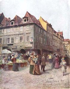 Pohled z Havelské do Melantrichovy ulice.