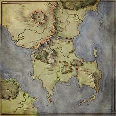 Handpainted fantasy map concept by djekspekiantart on worldbuilding by map fantastic maps gumiabroncs Choice Image