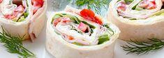Roladki z tortilli z szynką i papryką konserwową | Kwestia Smaku Fresh Rolls, Dinner, Ethnic Recipes, Food, Suppers, Essen, Yemek, Meals