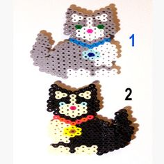 BEAD MAGNETS  Cats Tuxedo Pattern Handmade  by CreativeXpression1, $4.50