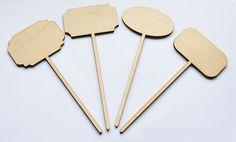 Tabliczki drewniane znaczniki/ wooden tab