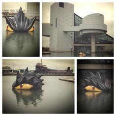 Lake Erie Monster in the Harbor @- Lake Erie Monsters #MyAwesomeMonsterBoard