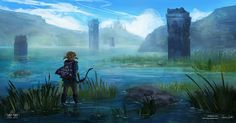 Lake Hylia - Zelda Open World by Mei-Xing on DeviantArt