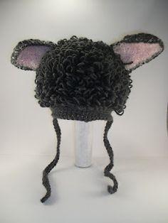 Funky kid's hats. Crochet Lamb Hat.