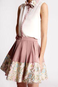 Boutique Dawn Brocade Hem Prom Skirt >> £35.00  #boohooboutique